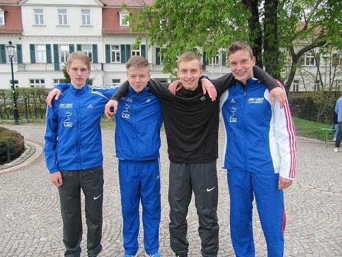 Die glücklichen Vier: Karl Junghannß, Paul Körner, Jonathan Hilbert und Paul Kley (v.l.)