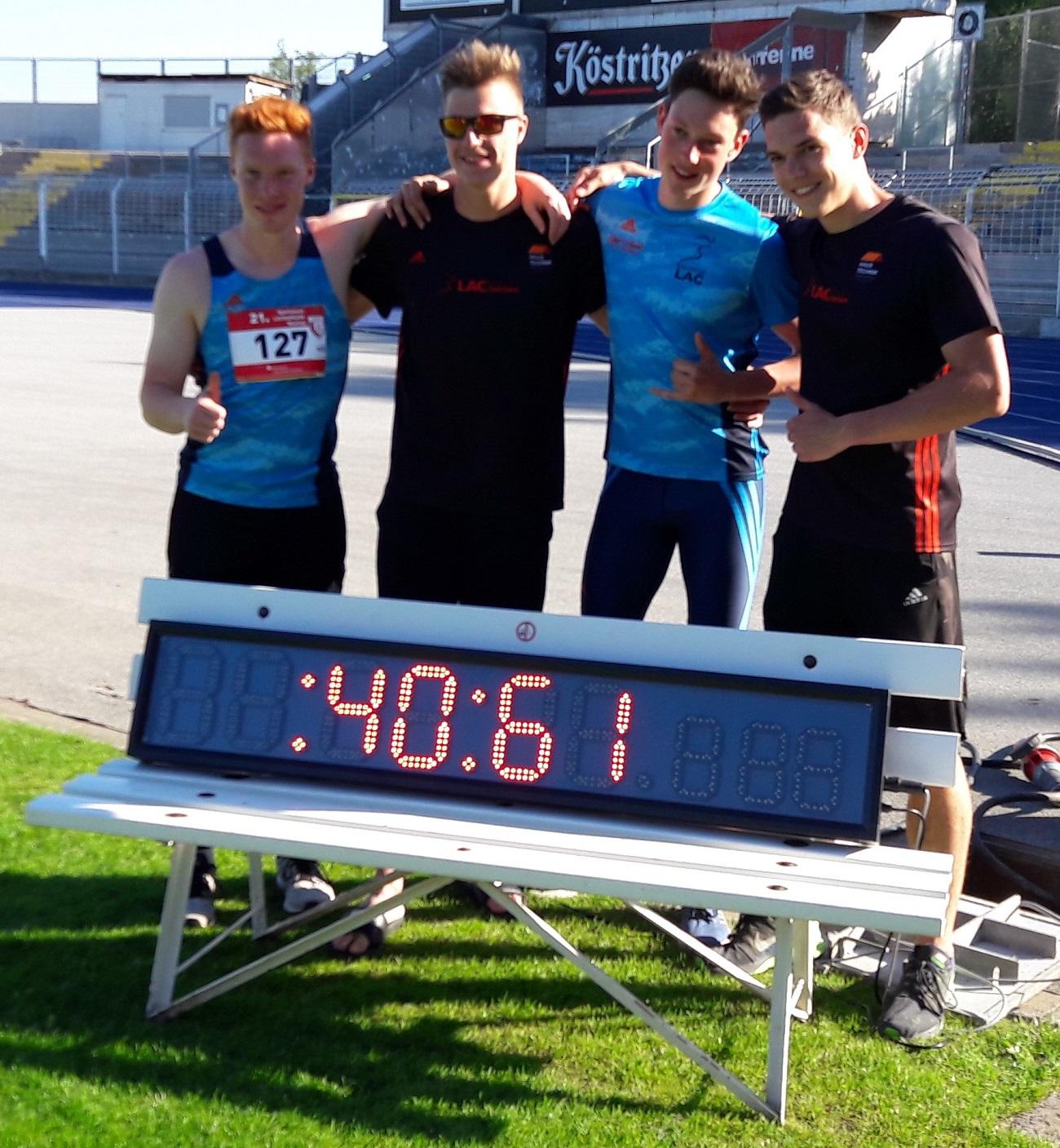 Rekord Staffel Jugend U20 4x100m